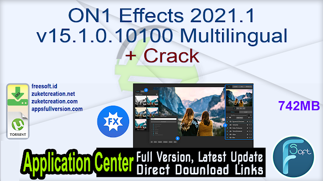 ON1 Effects 2021.1 v15.1.0.10100 Multilingual + Crack