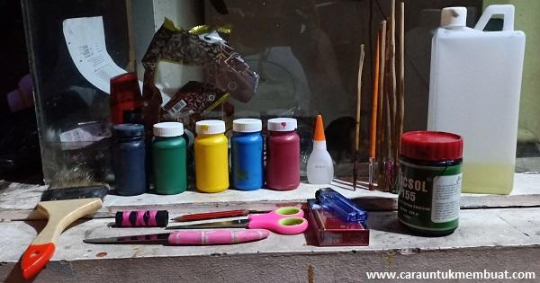 Cara Melukis Bahan Kulit Dengan Tinta Sablon