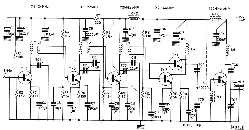 10 km Long Range Transmitter Circuit (2 meter band