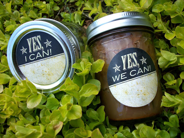 yes I can canning jar label