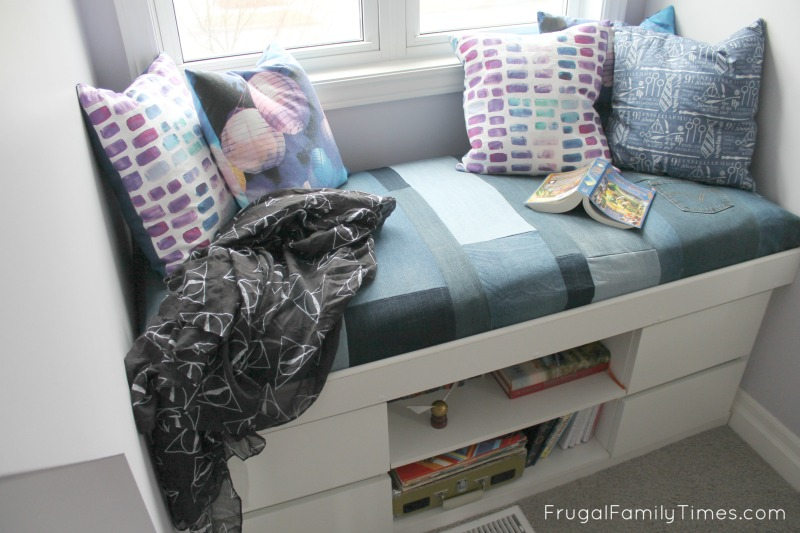 A Few Weeks Ago We Shared Our Tutorial Of How We Made A Built In Window Seat From Two Ikea Nightstands It Turned Out So Well Our Daughter Is Often Found