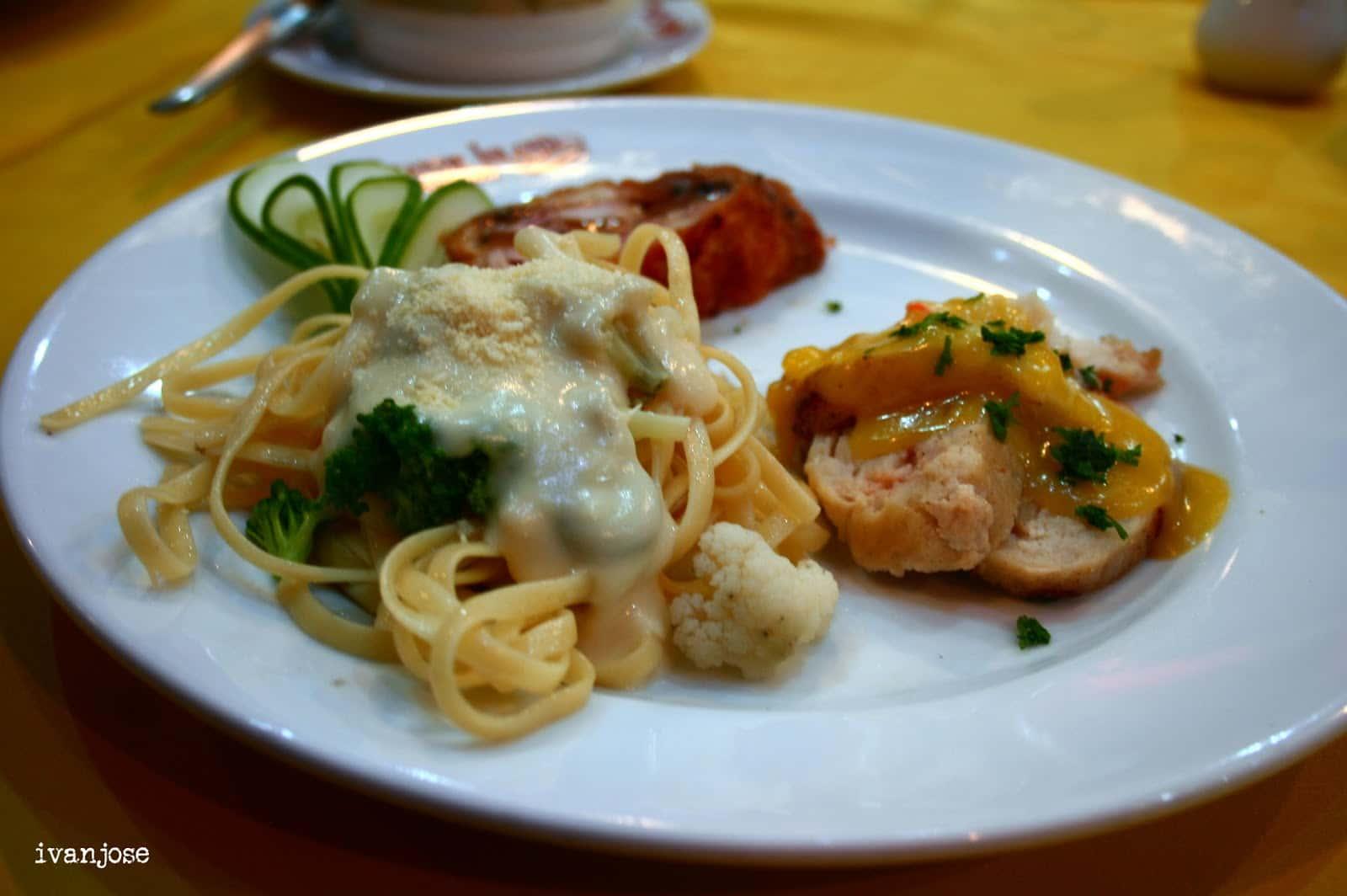 Set meal at Grande Island Resort