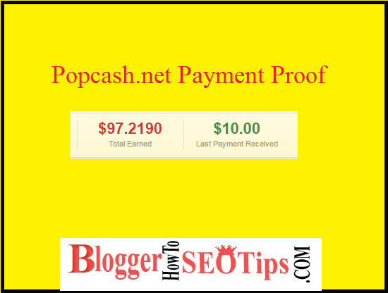 Popcash Payment Proof, Indian Blogger Popcash