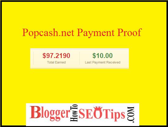 Popcash Payment Proof, Indian Blogger Popcash
