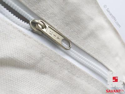 Plain Canvas Handbag Zipper