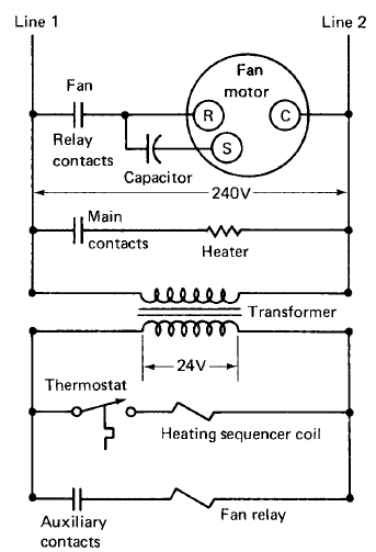 ELECTRIC HEATING SYSTEM BASIC OPERATION AND DIAGRAM   ALL ABOUT MECHANICAL ENGINEERING