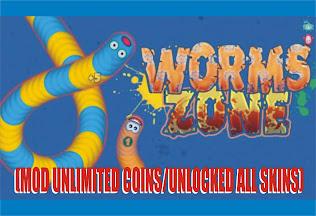 Worms Zone.io MOD APK Unlimited Coins Full Unlocked 1.2.4 Update Terbaru 2020