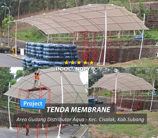 canopy membrane gudang pabrik
