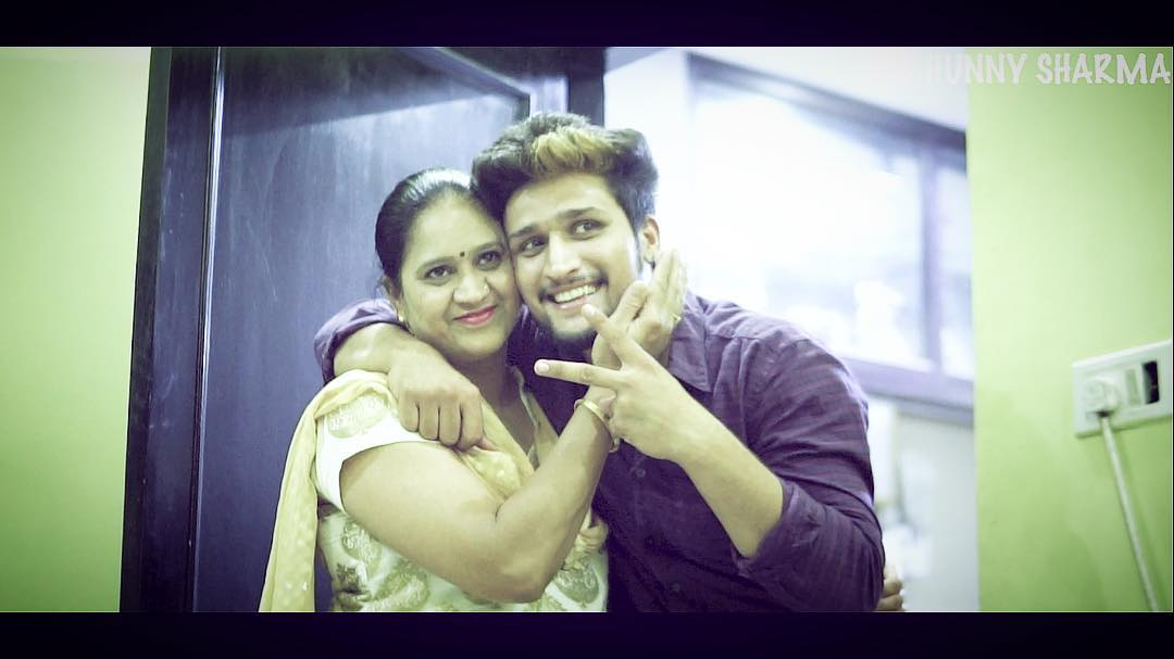 Hunny Sharma With His Mother