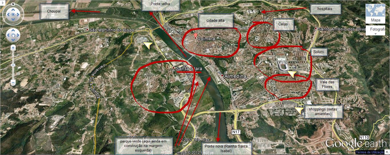 mapa das ruas de coimbra Onde morar em Coimbra? mapa das ruas de coimbra