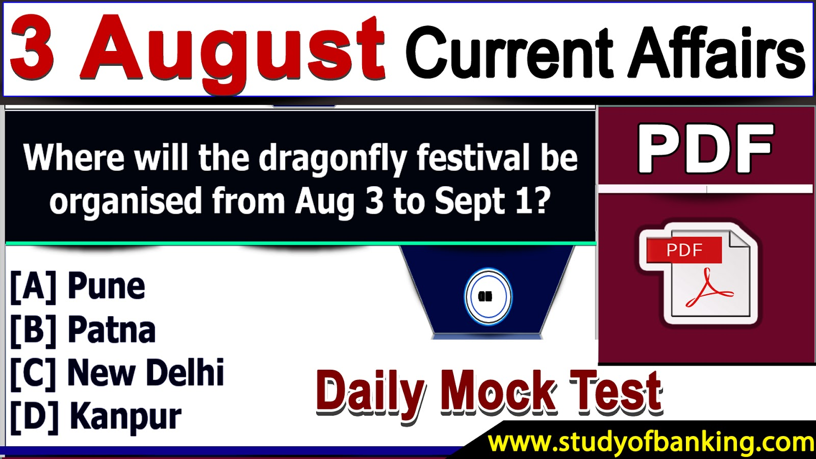 GK & Current Affairs Quiz: 3, August 2018