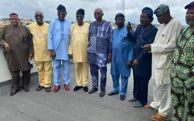 Mimiko and others in closed-door meeting with Obasanjo #OndoDecides2020