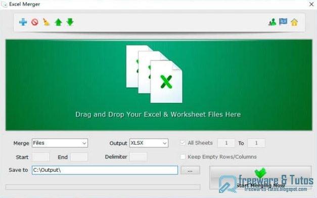 Excel Merger : un logiciel gratuit pour fusionner des fichiers Excel
