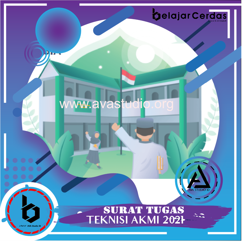 [Format] Surat Tugas Teknisi Asesmen Kompetensi Madrasah Indonesia (AKMI) Tahun 2021 - Belajar Cerdas