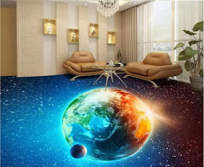 3d flooring epoxy for unusual living room designs