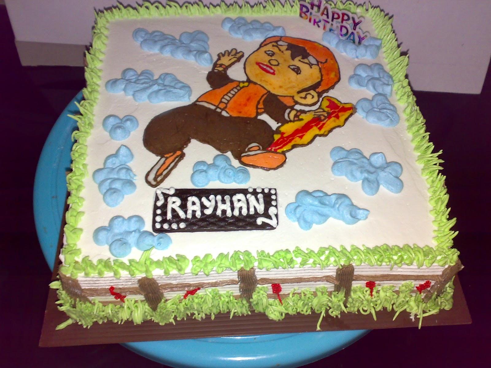 cake ulang tahun boboiboy