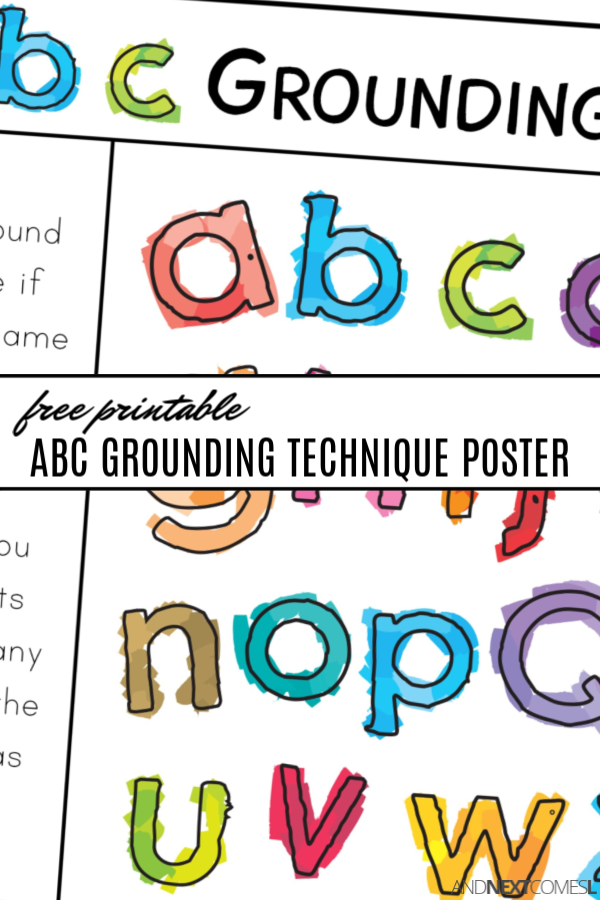 Alphabet grounding techniques for kids with free printable