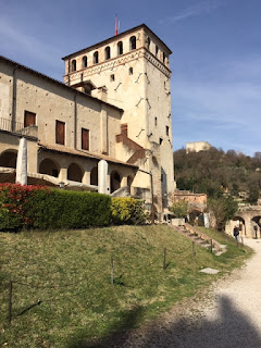 The castle at Asolo which was Caterina Cornara's home from 1489