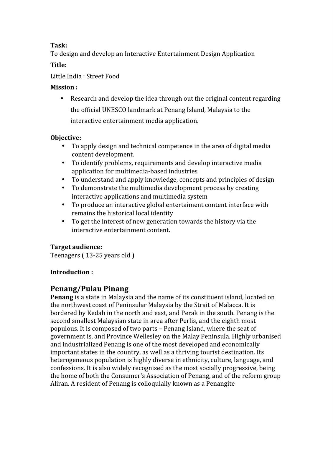 SYAFIQ AZHAR : DIGITAL MEDIA DESIGN 2: PROJECT PROPOSAL