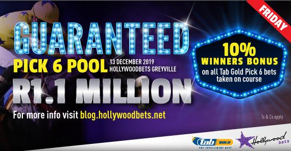 Pick 6 pool guarantee - Hollywoodbets Tab Gold artwork