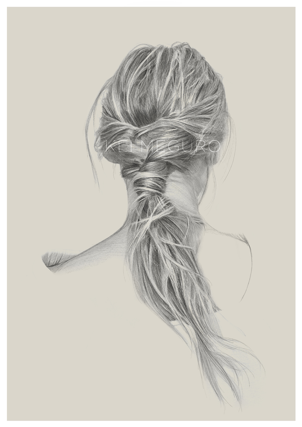 03-Hair-Brading-Kei-Meguro-Traditional-and-Digital-Art-Portraits-in-New-York-www-designstack-co