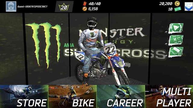 Monster energy supercross mod apk money