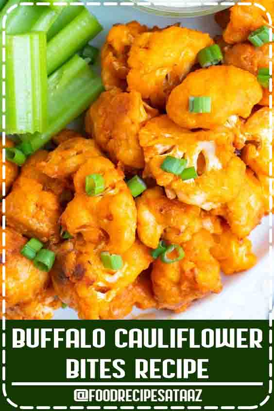 4.8 ★★★★★ | Buffalo Cauliflower Bites are a healthy, low-carb, gluten-free, keto, Paleo, and vegan alternative to your traditional chicken wings to serve up on game day. #Wings #Recipe #Buffalo #SuperBowl