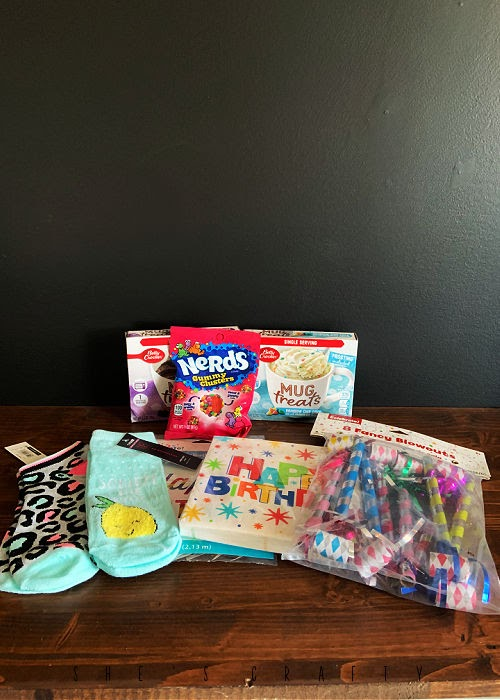 Birthday in a Box - what to include in a birthday box