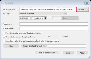 Cara Menjalankan Program Trial dengan RunAsDate for SAP2000