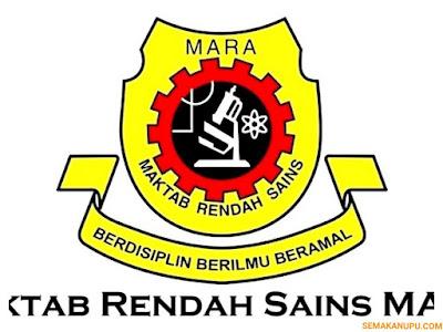 Semakan Keputusan MRSM Tingkatan 4 2018 Online