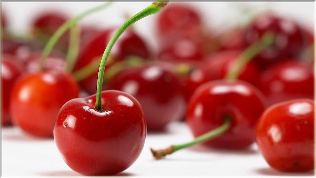 wallpaper buah cherry