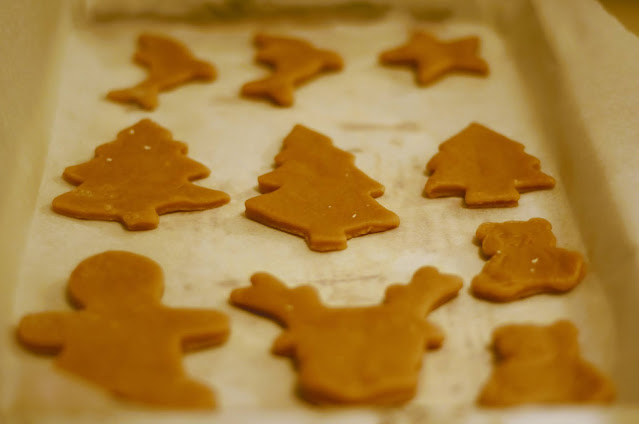 Gingerbread ready to go into the oven!