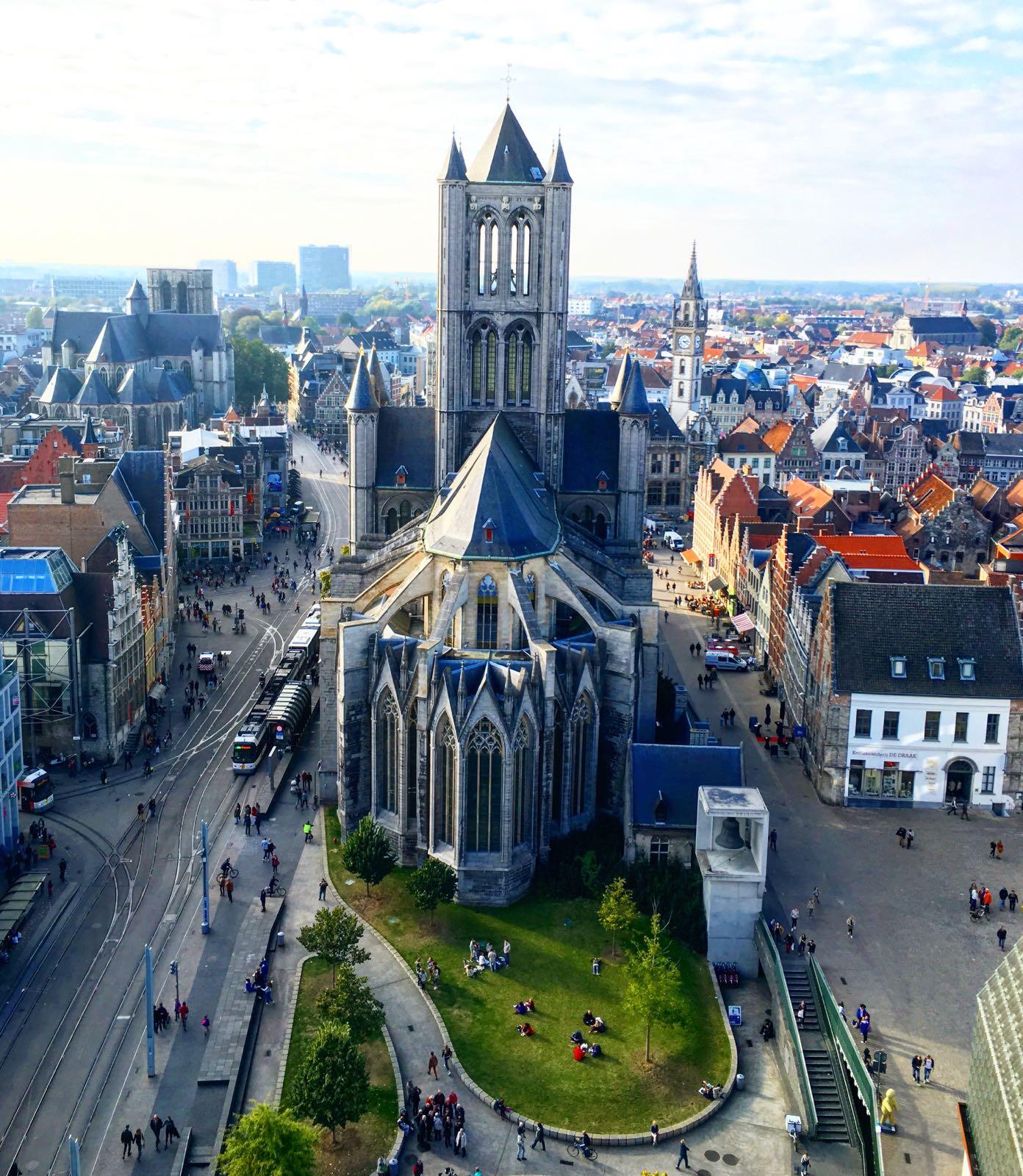 Le Chameau Bleu - Escapade en Belgique - Gand vu du ciel
