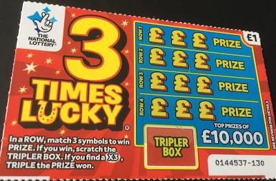 3 Times Lucky Scratch Card