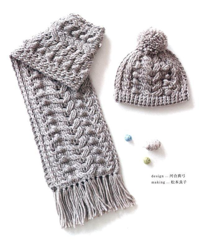 Crochet Cables Hat And Scarf Set,  Quick And Easy,  Stylish for winter