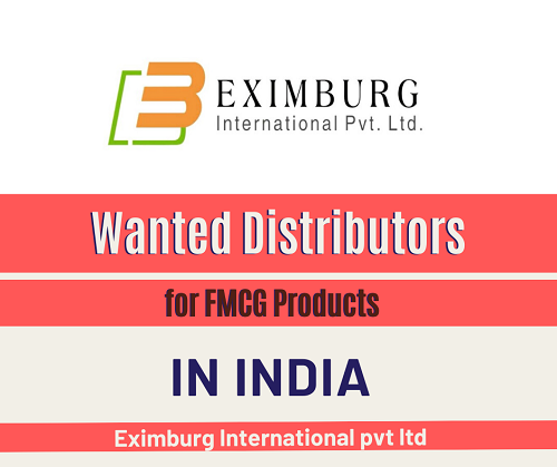 Wanted Distributors for FMCG Products in Pan India