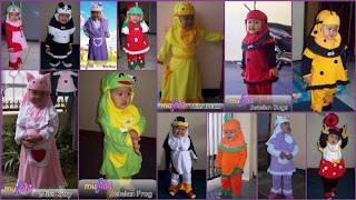 Baju Muslim Bayi Perempuan Umur 1 Tahun