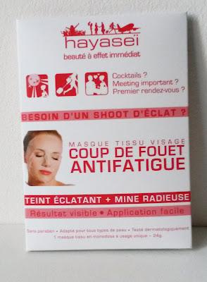 Hayaseï, Masque tissu visage coup de fouet antifatigue glossybox mars 2016