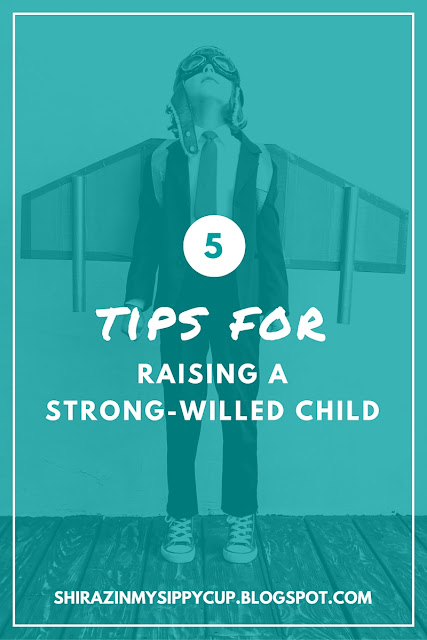 Five Tips For Raising a Strong-Willed Child. #parenting #childbehavior #workingmoms