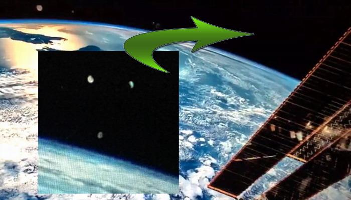 Captan en video el momento en que un objeto triangular se desvanece frente a la ISS de la NASA