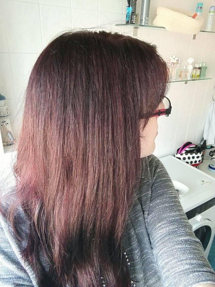 directions haarfarbe auf dunklem haar