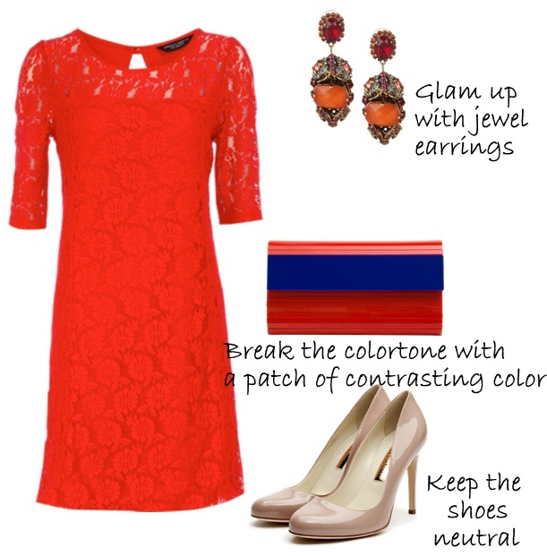 Style-Delights  How To Style A Red Lace Dress   Holiday Party Outfit Ideas 883521dc9