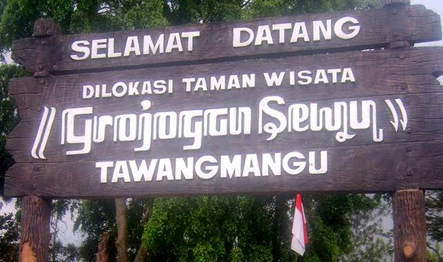 Wisata Grojogan Sewu Tawangmangu