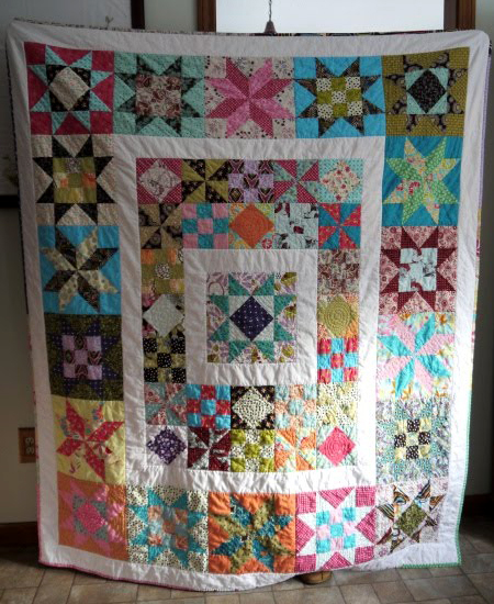 Sampler Quilt-Along designed by Audrie Bidwell of Blue is Bleu