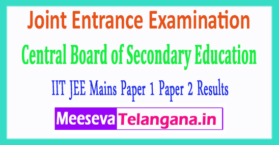 IIT JEE Joint Entrance Examination Central Board IIT CBSE JEE Mains Results 2018