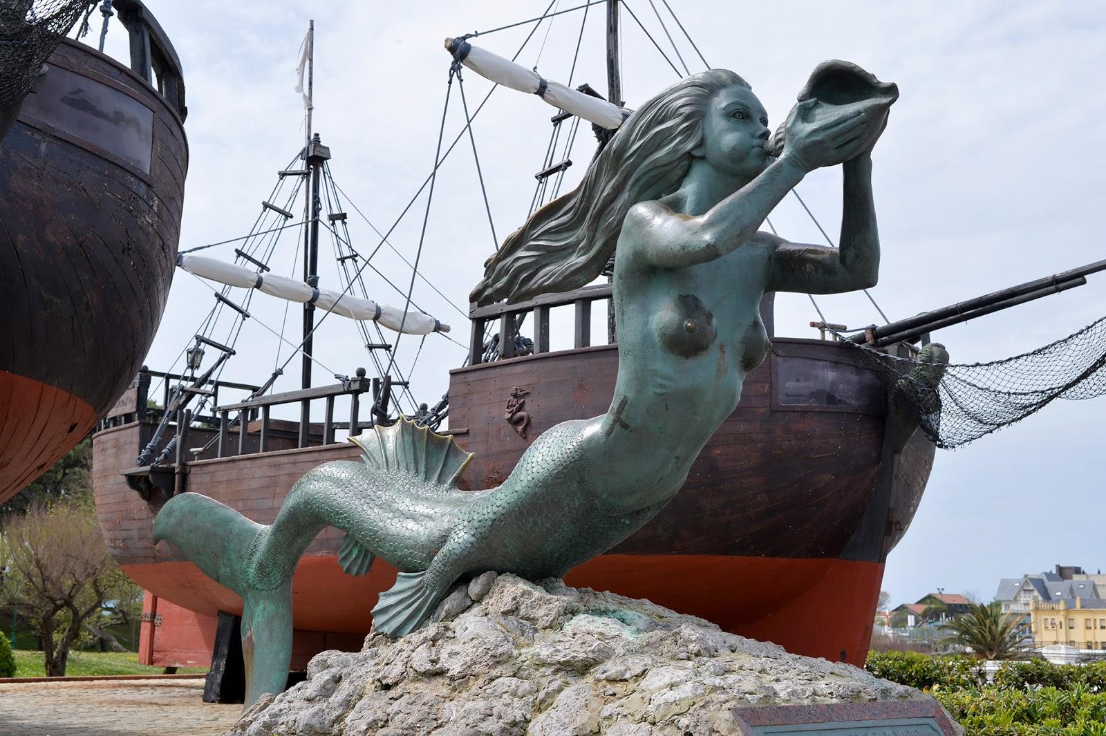 ship mermaid carabela sirena santander sardinero cantabria