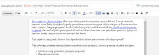 Download Contoh Proposal Permohonan Bantuan Dana