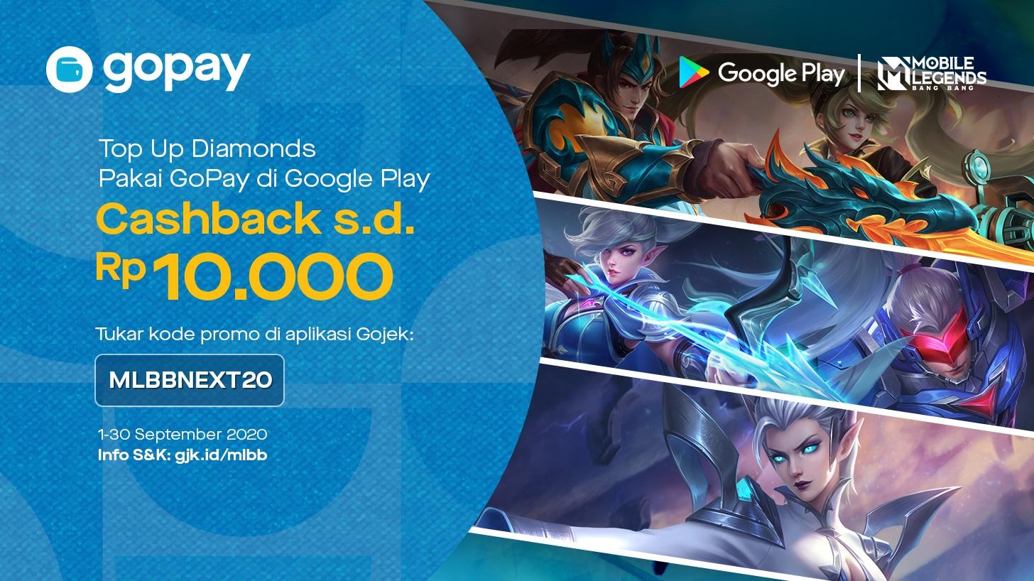 GoPay Kode Promo Mobile Legends September 2020