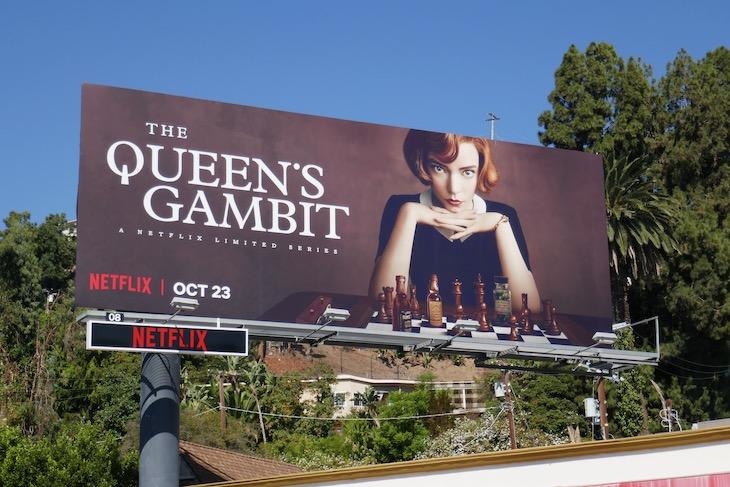 Queens Gambit series launch billboard