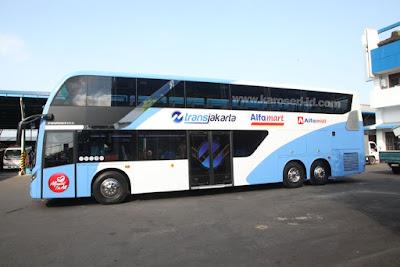 Eksterior bus tingkat paradise new armada